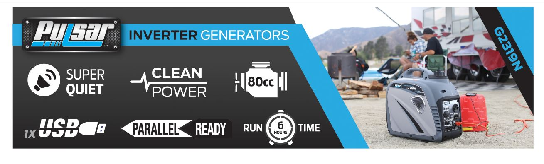 Pulsar PG2300iS 2,300 Rated Watts Closed Frame Diesel-Powered Generator