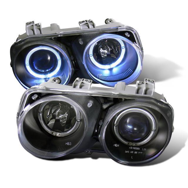 Cg Acura Integra 94 97 Projector Headlight Halo Black Clear Ccfl 02 Az Ai94 Pbc Rf Pair