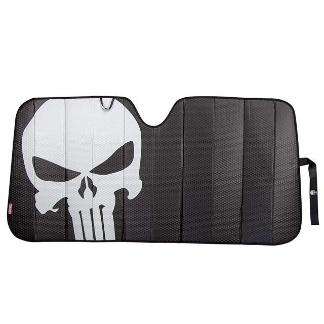 Plasticolor-Marvel-Punisher-Accordion-Universal-Windshield-Sunshade-003899R01 thumbnail 1