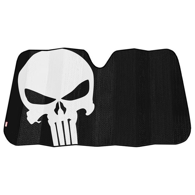 Plasticolor-Marvel-Punisher-Accordion-Universal-Windshield-Sunshade-003899R01 thumbnail 2