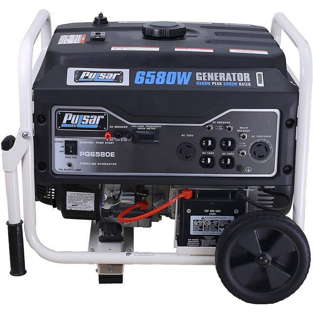 Pulsar 6,580 Peak Watt Gas-Powered Portable Generator ...